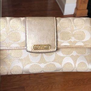 Coach gold wallet